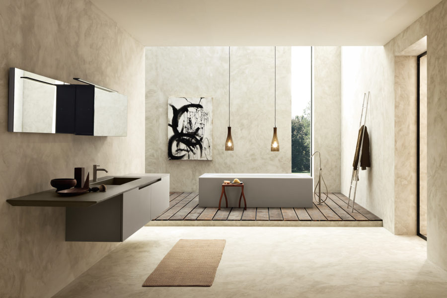 Moderne italiaanse badkamers modulnova