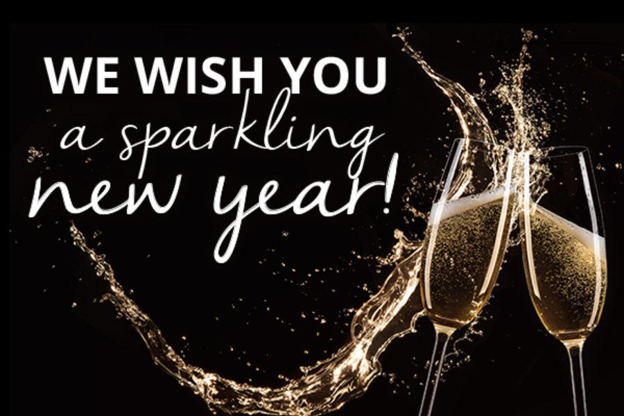 Fijne feestdagen en een sprankelend nieuwjaar